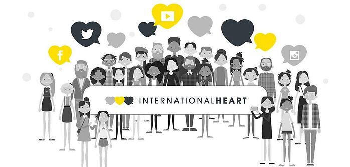 Grafik zur Aktionswoche #internationalheart